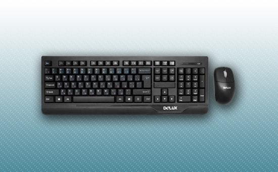 Клавиатура + мышь Delux DLD-6071OGB USB