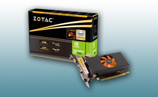 Видеокарта ZOTAC GT730 4GB GDDR5 64bit