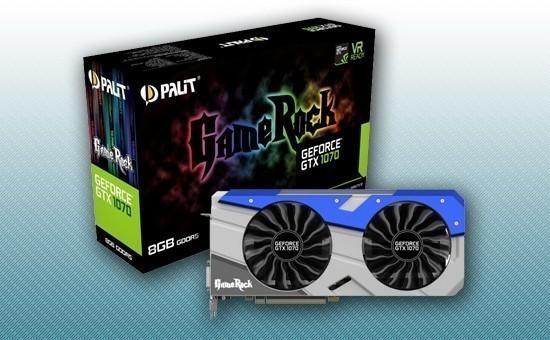 Видеокарта Palit GTX1070 GAMEROCK 8Gb 256bit GDDR5