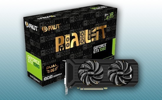 Видеокарта Palit GTX1080 Dual OC 8Gb 256bit GDDR5