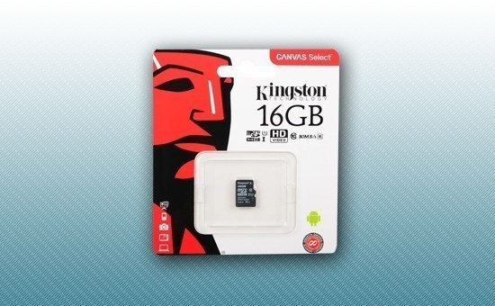 Карта памяти MicroSD 16Gb Kingston Canvas Select
