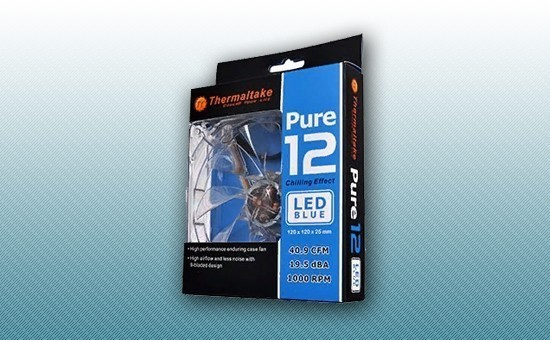 Кулер для Корпуса Thermaltake Pure 12 LED Blue [CL-F012-PL12BU-A]