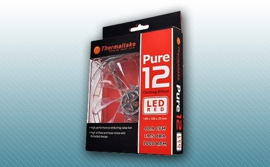 Кулер для Корпуса Thermaltake Pure 12 LED RED [CL-F019-PL12RE-A]