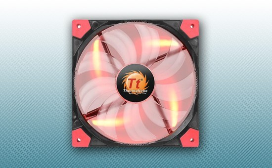 Кулер для Корпуса Thermaltake Luna 12 Slim RED [CL-F035-PL12RE-A]