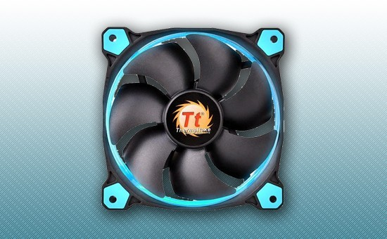Кулер для Корпуса Thermaltake Riing 12 LED Blue (CL-F038-PL12BU-A)