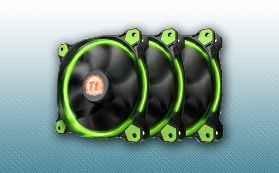 Кулер для Корпуса Thermaltake Riing 12 LED Green 3 pack (CL-F055-PL12GR-A)