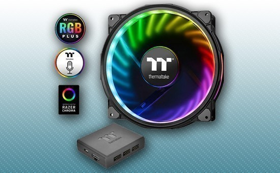 Кулер для Корпуса Thermaltake Riing Plus 20 RGB Case Fan TT Premium Edition [CL-F069-PL20SW-A]