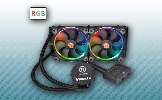 Водяное охлаждение Thermaltake Water 3.0 Riing RGB 240 [CL-W107-PL12SW-A]
