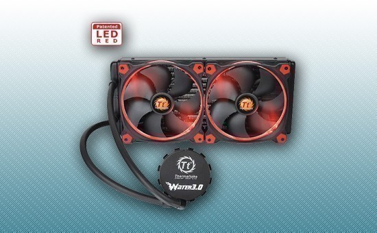 Водяное охлаждение Thermaltake Water 3.0 Riing Red 280 [CL-W138-PL14RE-A]
