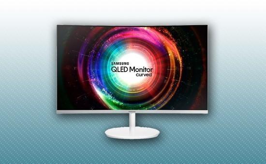 "Монитор 31.5"" Samsung LC32H711QEIXCI Серебристый"