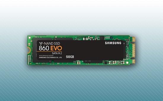 Твердотельный накопитель SSD 500GB Samsung 860EVO M.2 2280 [MZ-N6E500BW]