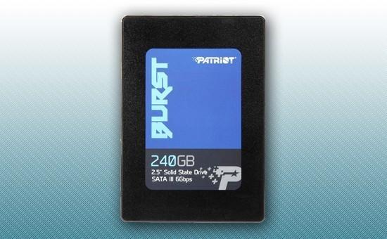 """Твердотельный накопитель SSD 240GB Patriot Burst 2.5"""" SATA3 TLC 3D [PBU240GS25SSDR]"""