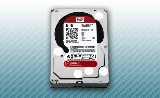 Жесткий диск 6Tb WD RED 5400 rpm SATA 6Gb/s 64Mb 3