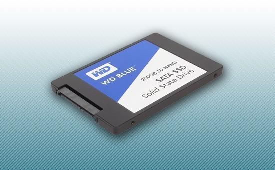 """Твердотельный накопитель SSD 250GB WD Blue 2.5"""" SATA3 TLC [WDS250G2B0A]"""