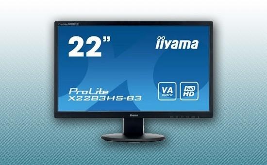 "Монитор 21.5"" Iiyama X2283HS-B3 Black"