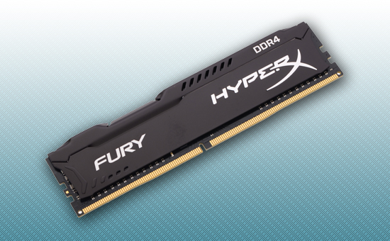 Оперативная память DDR4 8GB <PC-19200/2400MHz> Kingston HyperX Fury CL15 Black [HX424C15FB2/8]