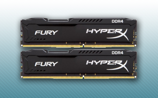 Оперативная память DDR4 16GB kit  Kingston HyperX Fury Black [HX432C18FB2K2/16]