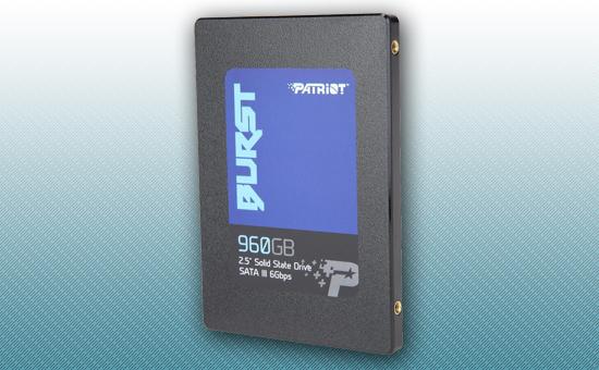 """Твердотельный накопитель SSD 960GB Patriot Burst 2.5"""" SATA3 TLC 3D [PBU960GS25SSDR]"""