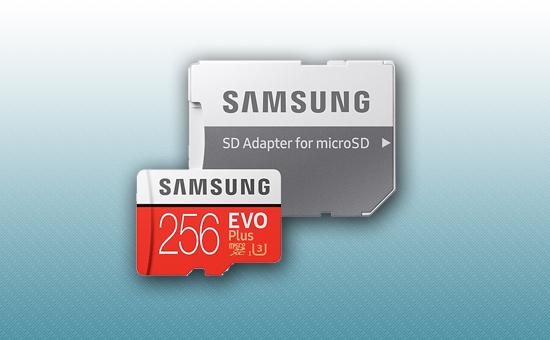 Карта памяти MicroSDXC 256Gb Samsung EVO Plus
