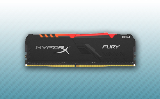 Оперативная память DDR4 8GB  Kingston HyperX Fury RGB [HX434C16FB3A/8]