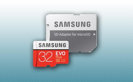 Карта памяти MicroSDXC 32Gb Samsung EVO Plus