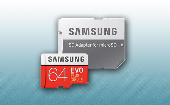 Карта памяти MicroSDXC 64Gb Samsung EVO Plus class 10 95/20 MB/s