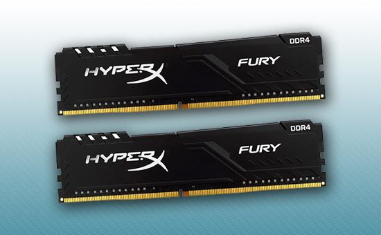 Оперативная память DDR4 16GB kit  Kingston HyperX Fury Black