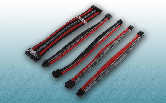 Комплект кабелей-удлинителей для БП BR-001 BLACK & RED