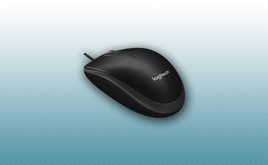 Мышь Logitech B100 Black  (черная