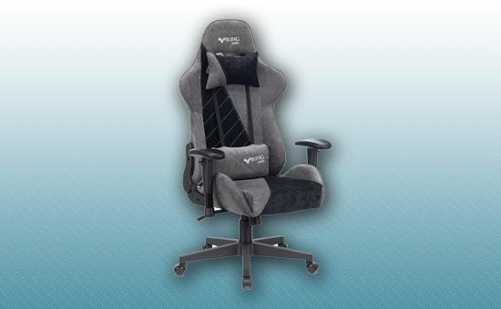 Кресло игровое Zombie VIKING X Fabric серый/черный [VIKING-X-Fabric-GR/BK]