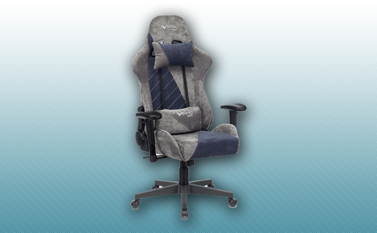 Кресло игровое Zombie VIKING X Fabric серый/темно-синий [VIKING-X-Fabric-GR/BL]