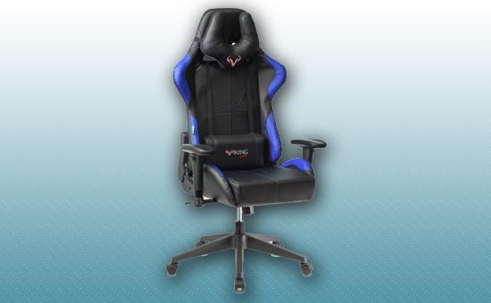 Кресло игровое Zombie VIKING-5-AERO черный/синий [Z-VIKING-5-AERO-B/BL]
