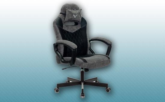 Кресло игровое Zombie VIKING 6 KNIGHT черный/серый [Z-VIKING-6-KNIGHT-B/GR]