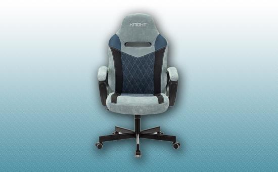 Кресло игровое Zombie VIKING 6 KNIGHT серый/голубой [Z-VIKING-6-KNIGHT-GR/BL]