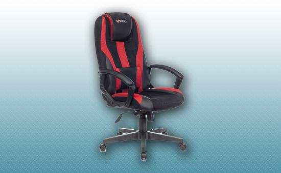Кресло игровое Zombie VIKING-9 черный/красный [Z-VIKING-9-B/R]