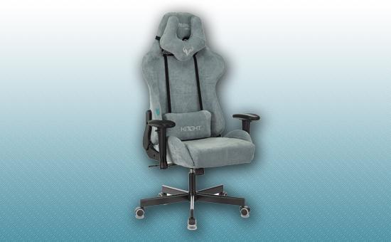 Кресло игровое Zombie VIKING KNIGHT Light-28 серо-голубой [Z-VIKING-KNIGHT-LT-28-GR/BL]